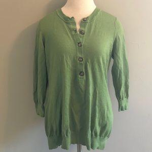 Boden Half-Button Wool Sweater Size 16